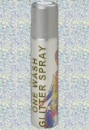 White Glitter Hair Spray - Small Image